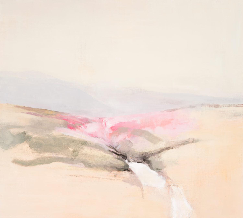 Im Mittelpunkt des Bildes liegt die sprudelnde Elbquelle. Rechts und links erhebt sich, in Pastelltönen gehalten, das Elbtal. Der in rosa gehaltene Bildmittelgrund spiegelt die Blüte der dort heimischen Erika. Im Hintergrund sind schemenhaft Berge zu sehen.